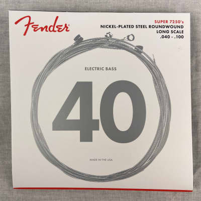 Fender 7250 Bass Strings, Nickel Plated Steel, Long Scale, 7250L .040-.100