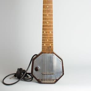 Audiovox  7-String Lap Steel Electric Guitar,  c. 1935, ser. #2369, original black hard shell case. for sale