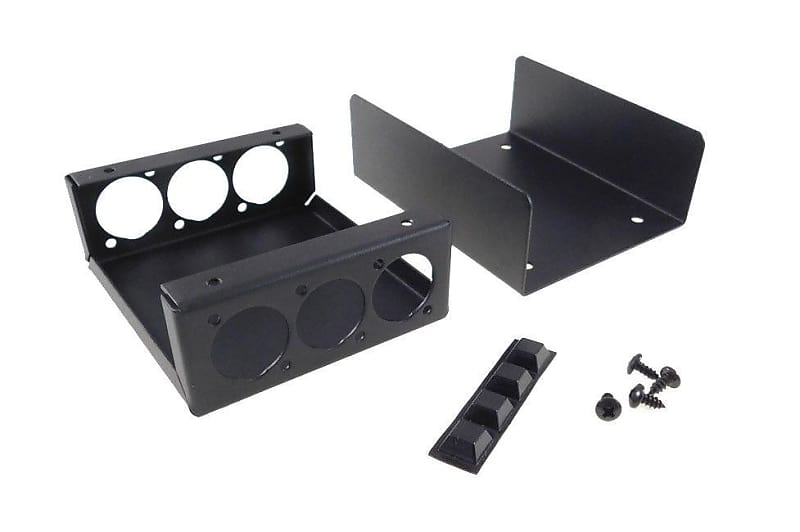 """Steel Project  Box  4 1//2/"""" x 3-3//4/"""" x 1 5//8/"""" Pre-Punched for 4 /""""D/"""" Series XLR/'s"""