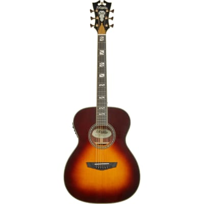 D'Angelico Excel Tammany Vintage Sunburst Electro-Acoustic Guitar with Case for sale