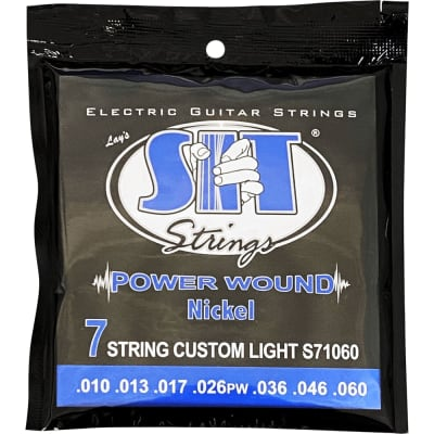 SIT Strings S71060 7-String Custom Light Power Wound Nickel .010-.060