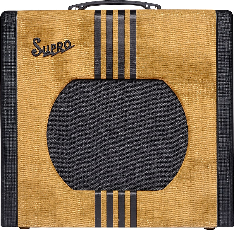 Supro 1822RTB Delta King 12 15W 1x12'' Guitar Tube Combo Amplifier Tweed & Black