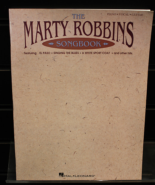 The Marty Robbins Songbook Piano/Vocal/Guitar Artist Songbook | Reverb