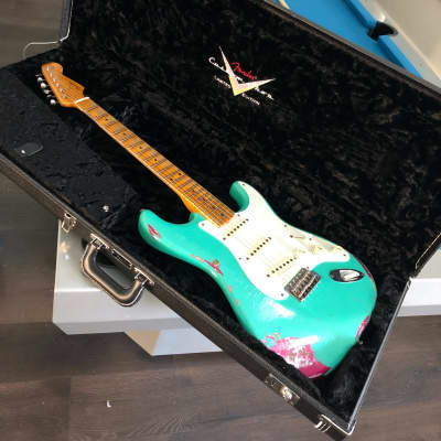 2016 Fender Custom Shop 57' Stratocaster Heavy Relic  Seafoam & Pink Paisley for sale