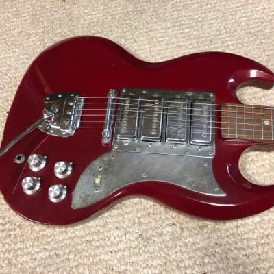 Vintage MIJ Encore 4-Pickup Electric Surf Guitar & Gigbag for sale