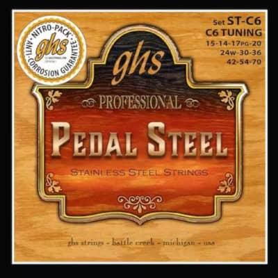 GHS Pedal Steel Strings - C6 Tuning - Stainless Steel