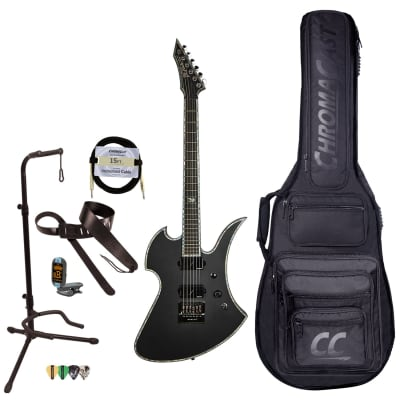 BC Rich Guitars Mockingbird Extreme Electric Guitar with EverTune, Case, Strap, and Stand, Matte Black for sale