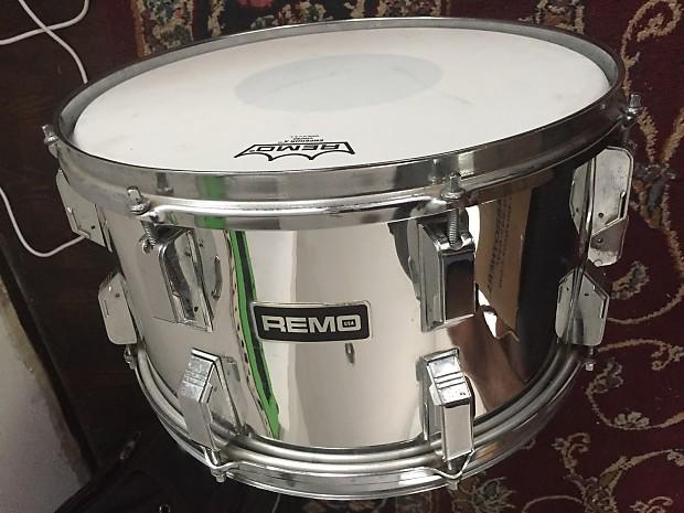 remo quadura 1980 39 s 8x14 snare drum w rare quick release reverb. Black Bedroom Furniture Sets. Home Design Ideas