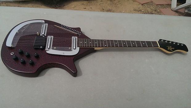 rogue str 1 electric sitar guitar coral replica mint reverb. Black Bedroom Furniture Sets. Home Design Ideas