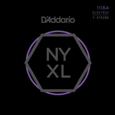 D'Addario NYXL1164 Nickel Wound 7-String Electric Guitar Strings Medium 11-64