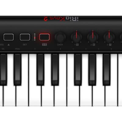 IK Multimedia iRig Keys 2, 37 mini-keys with velocity Compact universal MIDI keyboard controller