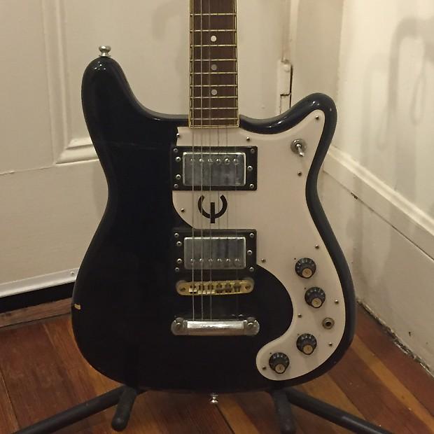 Vintage Epiphone Crestwood Wilshire Guitar 1970's Ebony
