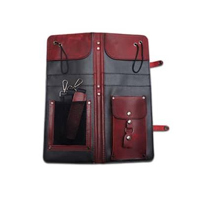 Ahead Bags - ALSCBUR - Burgundy Handmade Leather Stick Case w/Drum Key Holder