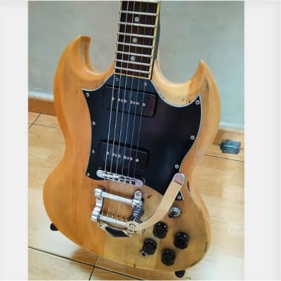 Custom SG P90's & Bigsby Natural Wood Relic