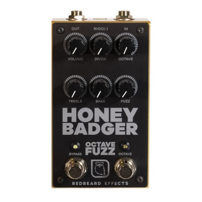 Redbeard Effects Honey Badger Octave Fuzz Guitar Effect Pedal