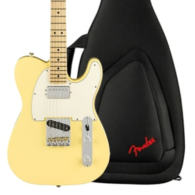 Fender Telecaster Hum American Performer Series Electric Guitar, Vintage White Finish, Maple Fretboard, w/ Fender Original Gigbag for sale