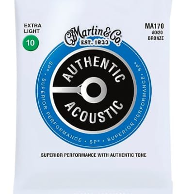 Martin MA170 Authentic Acoustic Light Guitar Strings