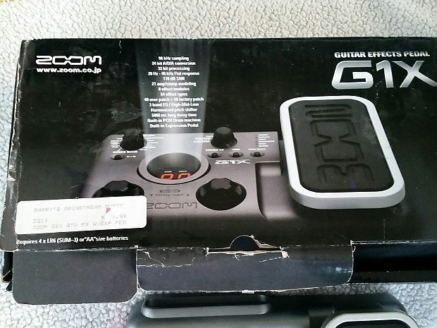 zoom g1x multi effects pedal used in original box reverb. Black Bedroom Furniture Sets. Home Design Ideas