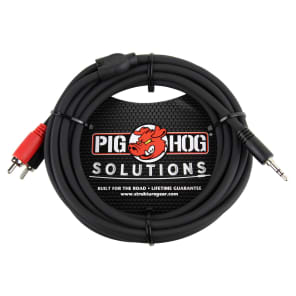 Pig Hog PB-S3R06 3.5mm TRS to Dual RCA Stereo Breakout Cable - 10'
