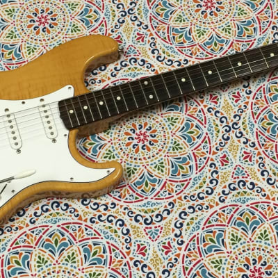 Fender Foto Flame Stratocaster MIJ 1994 - Natural - CLEAN - Case & Trem Bar Included! for sale