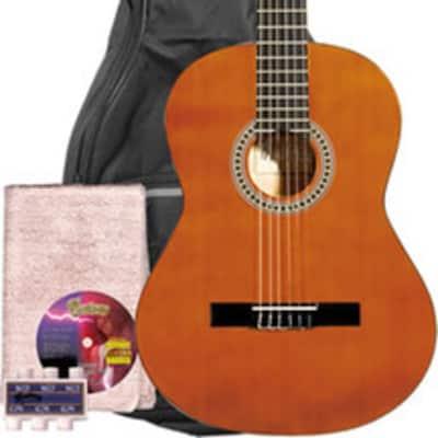 Monterey Classical Guitar Pack Natural Full Size Nylon 4/4 MC-139NPAK for sale