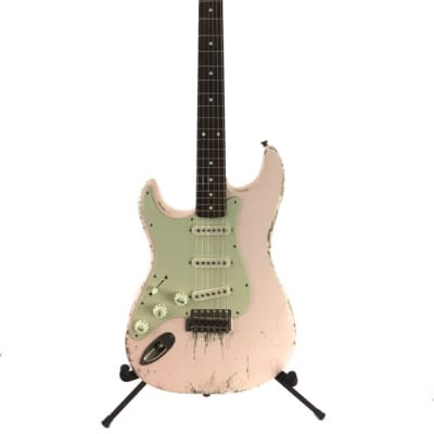 Fender Japan 1989 JV Era Vintage Heavy Relic Reissue Shell Pink Nitro MJT Custom Finish