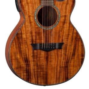 Dean Koa Performer Natural Acoustic/Electric Guitar, DMT Preamp w/ Tuner, PE KOA for sale