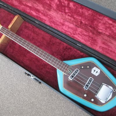 Teisco Domino bass c.1967 turquoise for sale