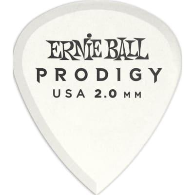 Ernie Ball 9203 Prodigy Mini Pick, 2mm, White, 6 Pack for sale
