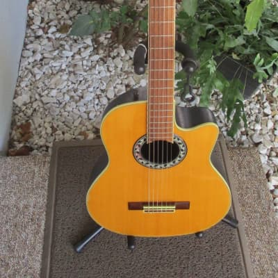 Applause AN13 Natural~Ovation~Round Back~Travel 3/4 Size Nylon String Acoustic Guitar~Korea~MIK~ for sale