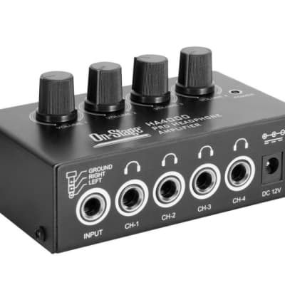 On-Stage HA4000 4-Channel Headphone Amplifier