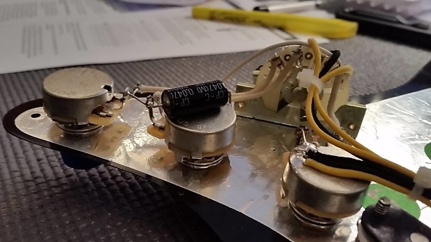 stratocaster wiring harness  by hoagland custom