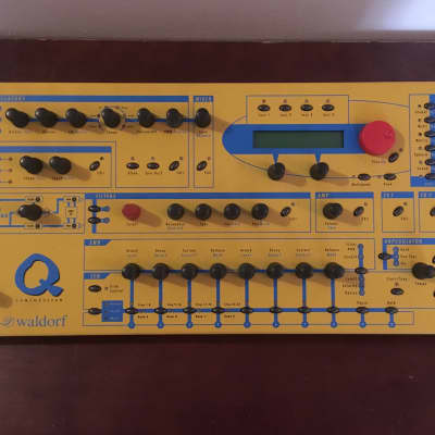 Waldorf Q Yellow rack synthesizer