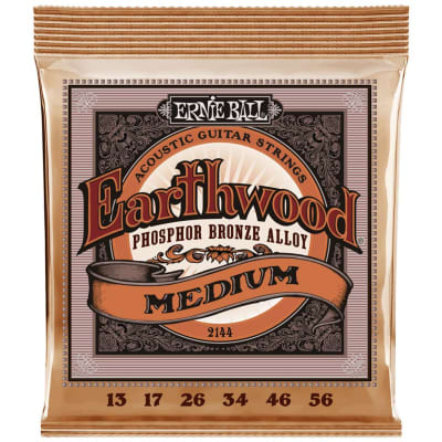 Ernie Ball Earthwood Phosphor Bronze Acoustic Guitar Strings - Medium (13-56)