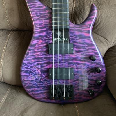 Modulus Quantum 4 2006 5A Quilt Top Purple Blue Black for sale