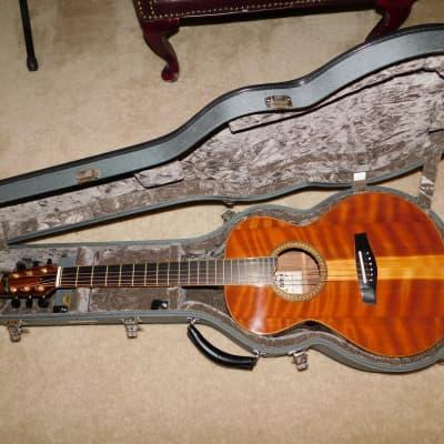 Harvey Leach Kirby 00 Acoustic Guitar Flamed Redwood Pauferro 1999 for sale