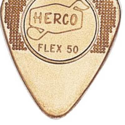Herco Gold Flex 50 Light Guitar Picks - 12 Pack image