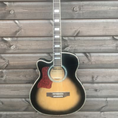 Benson Left Handed Electro Acoustic Guitar  Tobacco Burst for sale