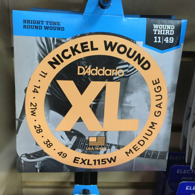 D'Addario EXL115W Nickel Wound 11-49 with Wound 3rd