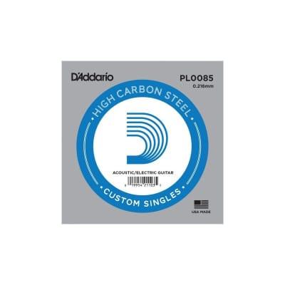 D'Addario Nickel Plain Electric/Acoustic Single String PL0085