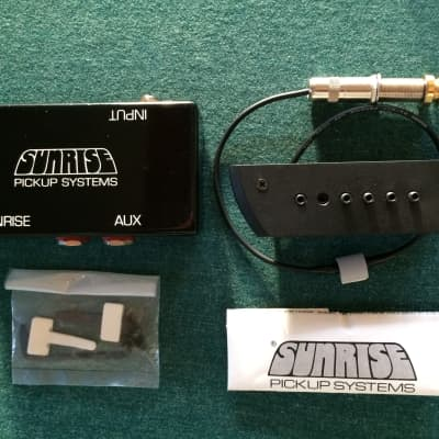 Sunrise S-2 Acoustic Guitar Sound-Hole Pickup w/ S-B1 Preamp Buffer Box for sale