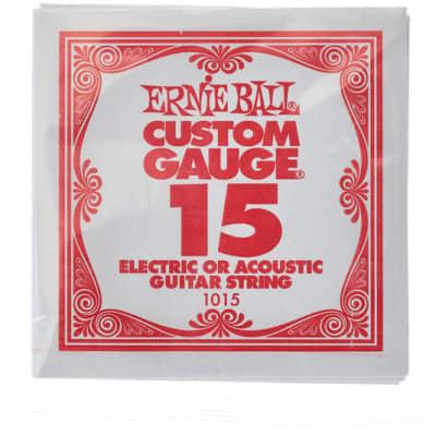 Ernie Ball .015 Single Plain Steel String
