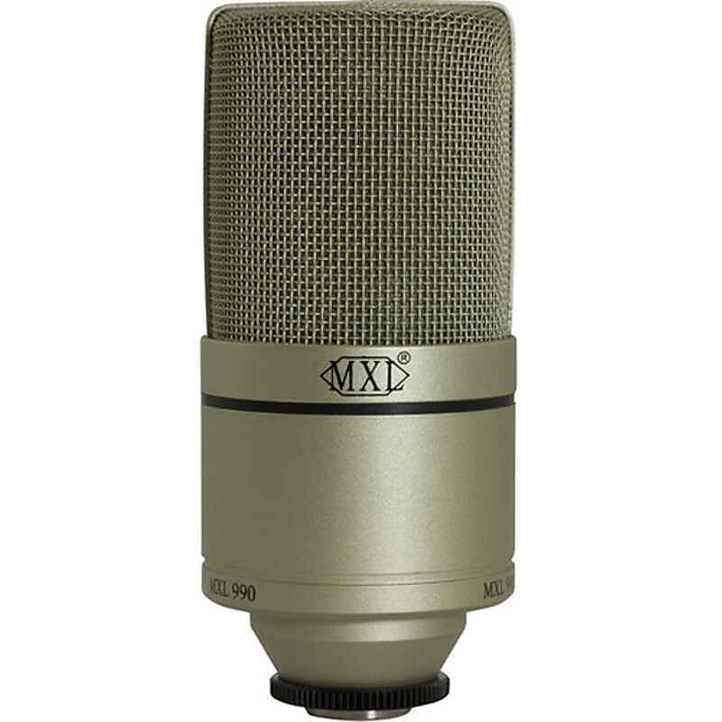 mxl 990 condenser microphone with shockmount reverb. Black Bedroom Furniture Sets. Home Design Ideas