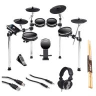 Alesis DM10 MKII Studio Kit Electronic Drum Set + Headphone + Pair of Sticks + Hosa USB Cables