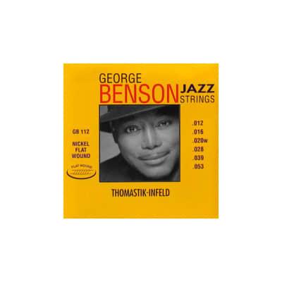 Thomastik George Benson Flatwound Electric Strings GB112 12-53
