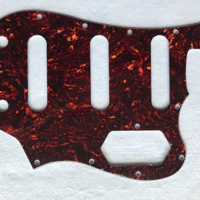 Fits Squier Vintage Modified Bass VI Guitar pickguard , 4 Ply Brown Tortoise