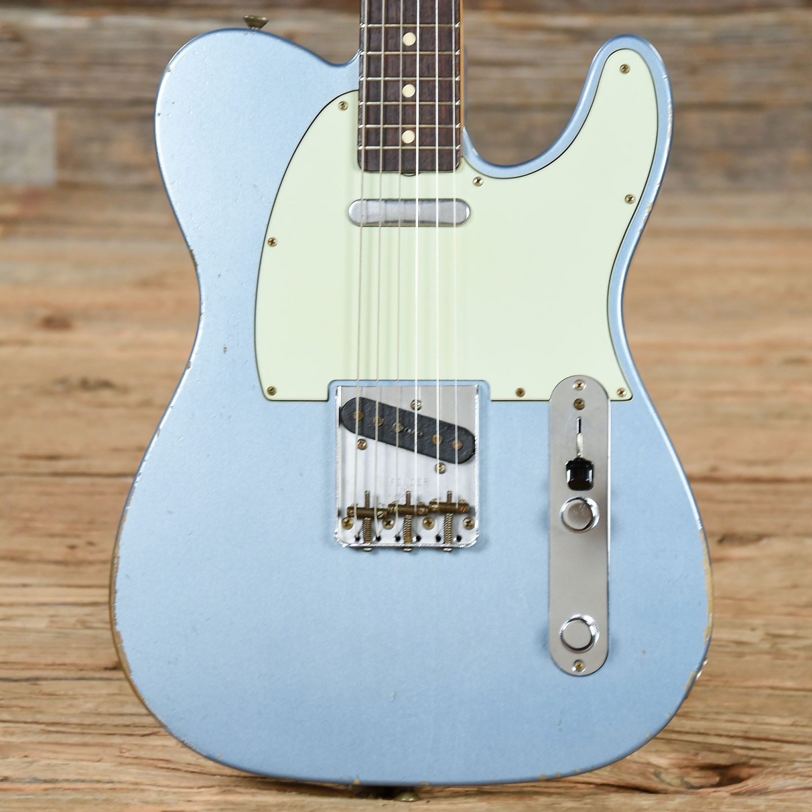 Fender Custom Shop 63 Telecaster Relic Blue Ice Metallic 2017 S743