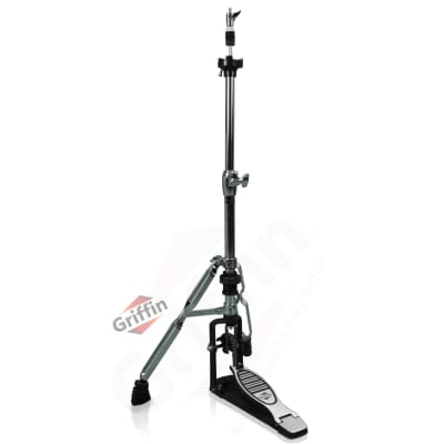 Hi-Hat Stand – Griffin 2 Leg Percussion No Leg High Hat Pedal Cymbal Drum Mount