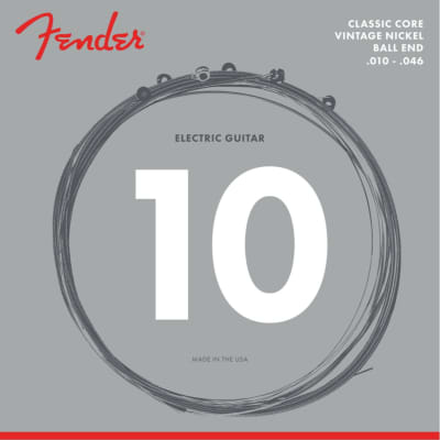 Fender 155R Classic Core Vintage Nickel Ball End Electric Guitar Strings, .010-.046
