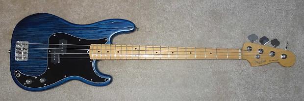 Fender Limited Edition Sandblasted Ash Jazz Bass Sapphire   Reverb
